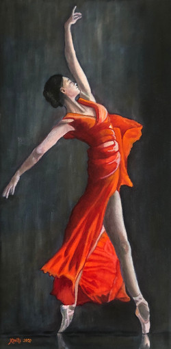 Dancer in Orange-Red Dress