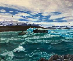 """Magnificent Icebergs"" - Lake Jokulsarlon, Iceland"