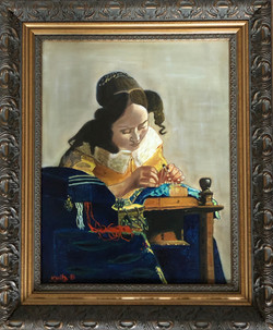 """Homage To Vermeer - """"The Lace Maker'"""