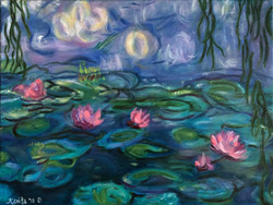 """Homage To Monet - """"Water Lilies'"""