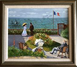 "Homage to Monet - ""Terasse a Saint-Adresse"""