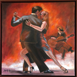 Replica of a Mark Spain painting - Tango Argentina II