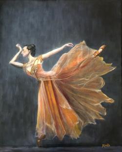 Dancer in Orange Dress