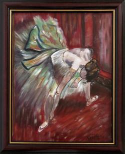 """Homage To Degas - """"Dancer in Green Tutu"""""""