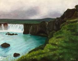 """Waterfall of the Gods"" - Godafoss Falls, Iceland"