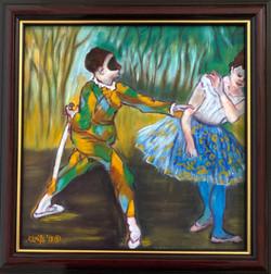 "Homage To Degas - ""Harlequin and Columbine"""