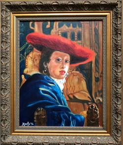 """Homage To Vermeer - """"Girl With a Red Hat"""""""