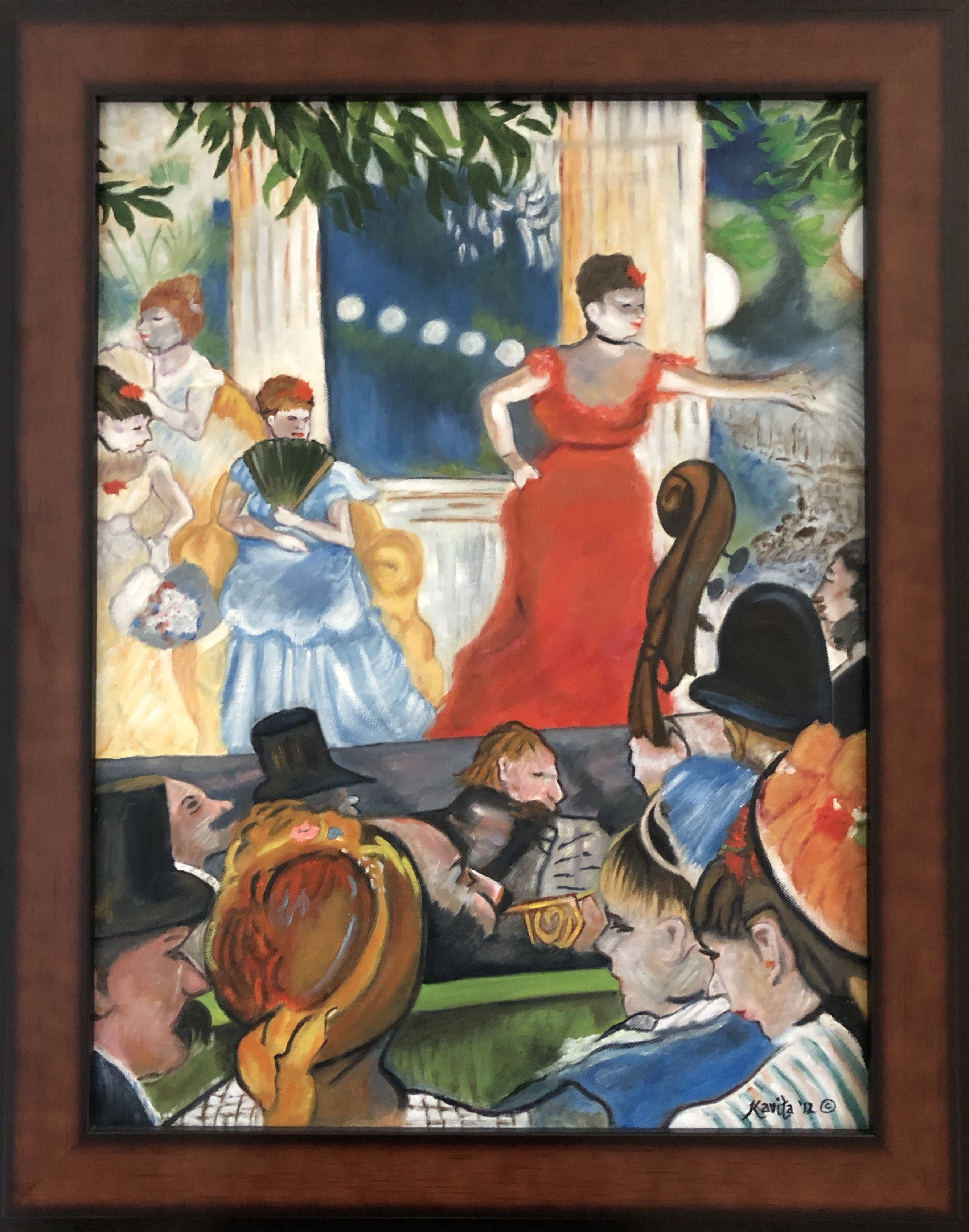 "Homage To Degas - ""Cafe Concert at Les Ambassadeurs"""