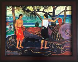 "Homage to Gauguin - ""Under the Pandanus"""