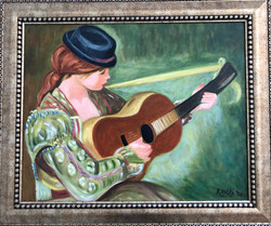 """Homage To Renoir - """"Girl With A Guitar'"""