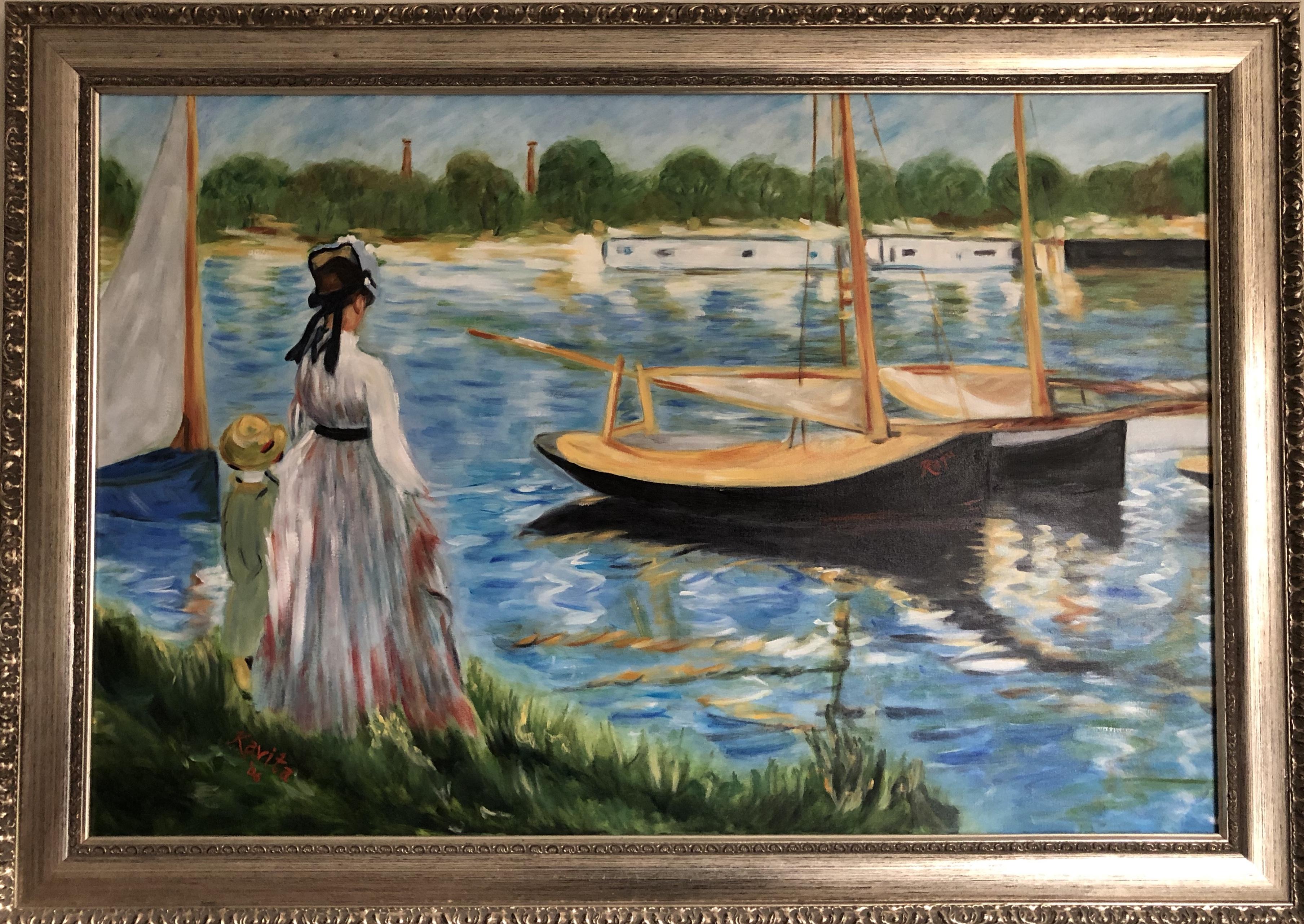 """Homage to Manet - """"La Seine a Argenteuil"""""""