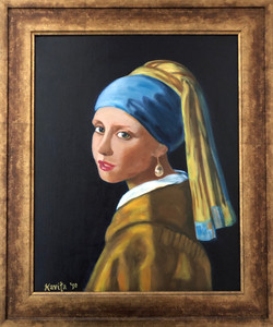 """Homage To Vermeer - """"Girl With A Pearl Earring"""""""