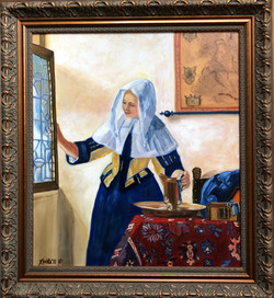 """Homage To Vermeer - """"Young Woman With a Water Jug"""""""