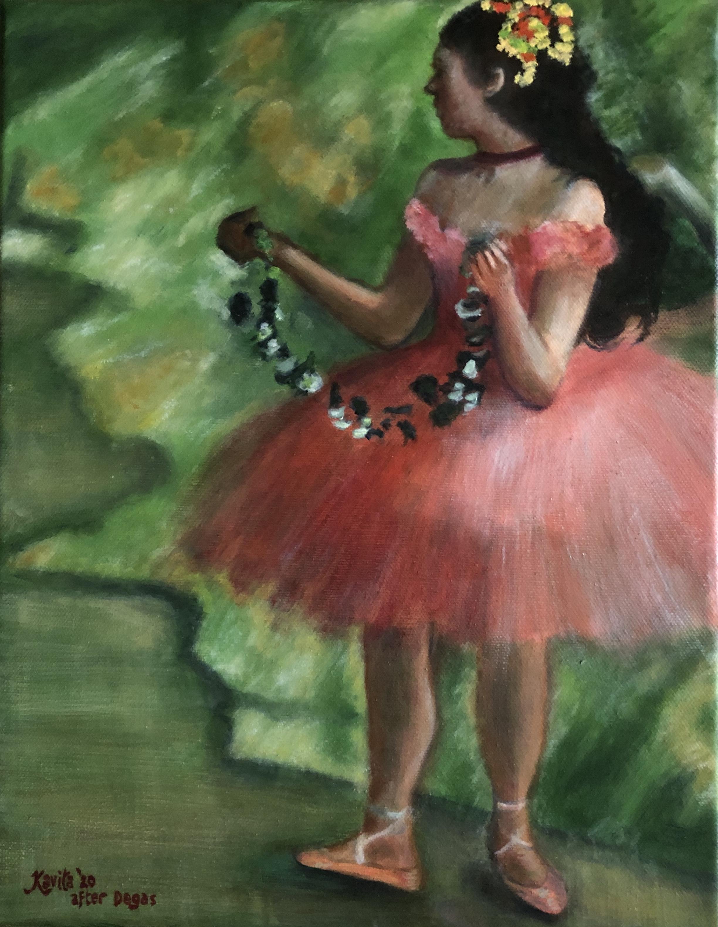 """Dancer In Pink"" - after Degas"
