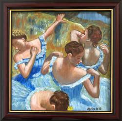 "Homage To Degas - ""Blue Dancers"""