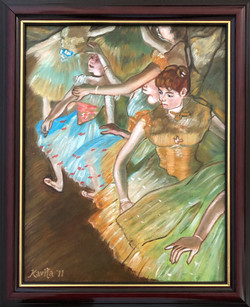 """Homage To Degas - """"Ballet Dancers on the Stage"""""""