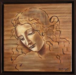 """Homage to Da Vinci - """"La Scapagliata"""" - Female Head"""