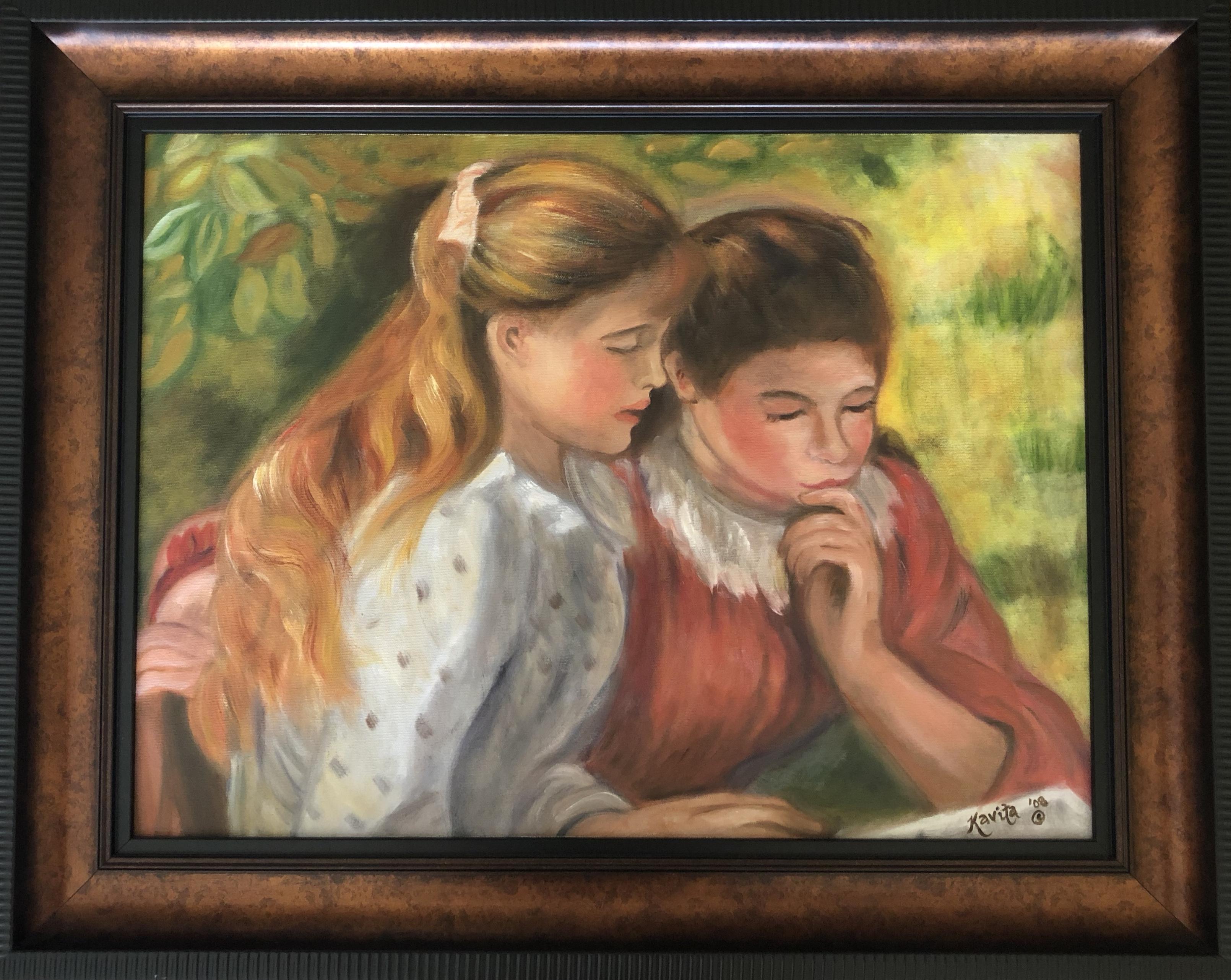 "Homage to Renoir - ""Two Girls Reading"""