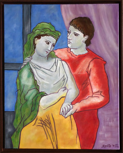 """Homage to Picasso - """"The Lovers"""""""