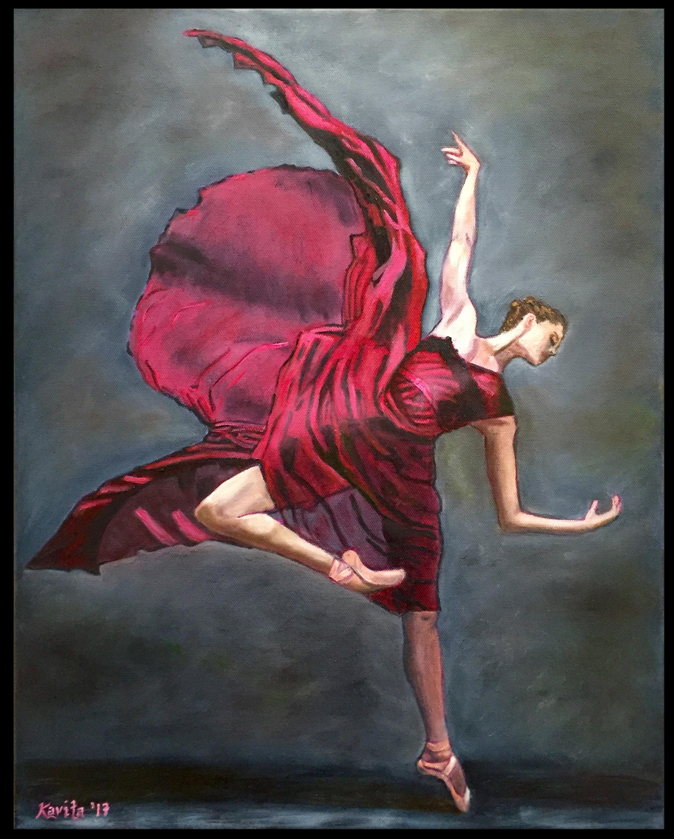 """Dancer in Burgundy""- SOLD"