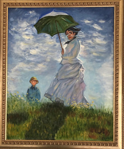 """Homage to Monet - """"Woman With a Parasol"""""""