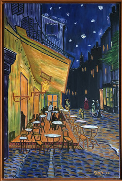 """Homage to Van Gogh - """"Cafe Terrace At Night"""""""