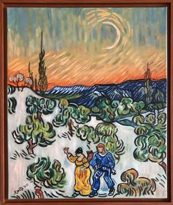 "Homage to Van Gogh - "" Evening Stroll"""