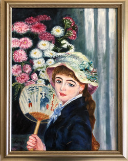 """Homage to Renoir - """"Girl With a Fan"""""""