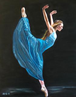 """""""Dancer in Blue""""- SOLD"""