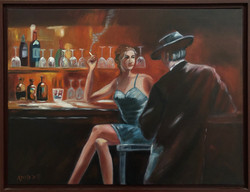"""Homage to Willem Haenraets - """"Evening At The Bar II"""""""