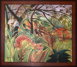 """Homage To Rousseau - """"Tiger In A Tropical Storm"""""""