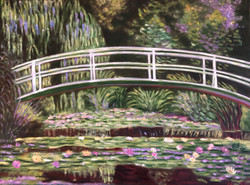 """Homage to Monet - """"The Waterlily Pond With the Japanese Bridge"""""""