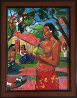 """Homage to Gauguin - """"Woman Holding A Fruit"""""""