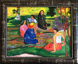 """Homage To Gauguin - """"The Conversation"""""""