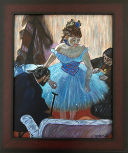 "Homage to Degas - ""Dancer in her Dressing Room"""