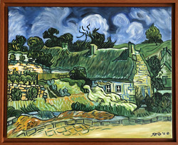 """Homage to Van Gogh - """"Thatched Cottages In Cordeville"""""""