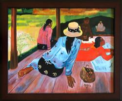 "Homage To Gauguin - ""The Siesta"""