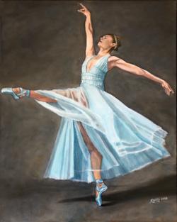 Dancer in Light Blue Dress