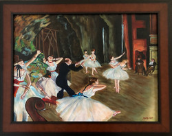 """Homage To Degas - """"The Rehearsal of The Ballet Onstage"""""""