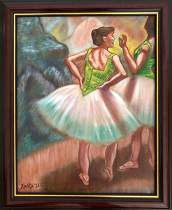 """Homage To Degas - """"Dancers, Pink and Green"""""""