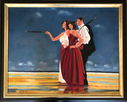 """Tribute to Vettriano - """"The Missing Man"""""""