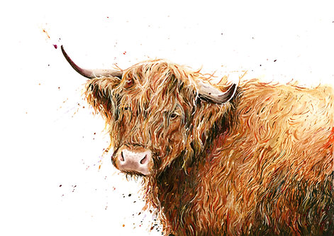 Fergus the Highland Print