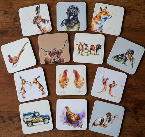 4 Coasters for £15
