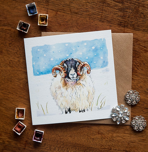 Swaledale in the snow - Greetings card