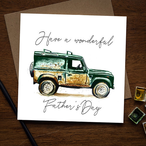 4x4 Father's Day card