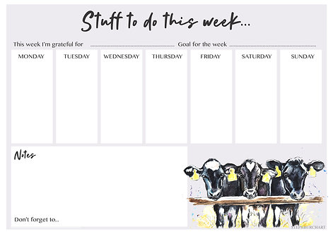 Dairy Calf planner collection - 5 of each.