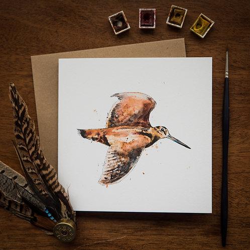 'Woodcock' Greetings Card