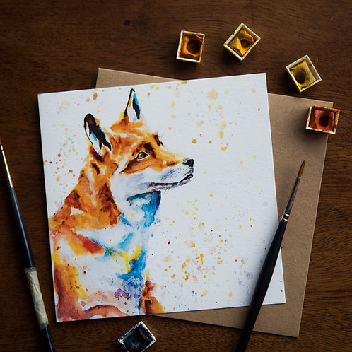 'Fred the Fox' Greetings card