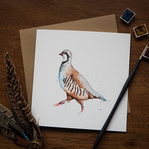 'Partridge' Greetings Card