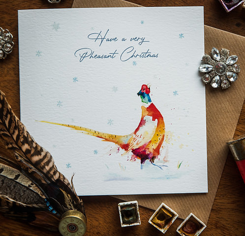 Have a Pheasant Christmas - Greetings card